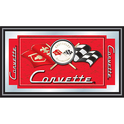 Corvette C1 Framed Mirror, Red
