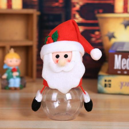 Child Kids Christmas Candy Jar Storage Bottle Santa Bag Sweet Christmas Box Gif