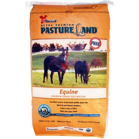 Pasture Land Equine Forage w/ Micro-Boost Seed - Good Source of Grass Hay 25lbs
