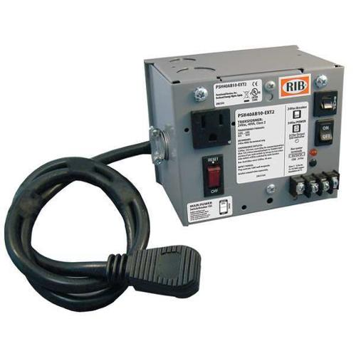 FUNCTIONAL DEVICES INC / RIB PSH40AB10-EXT2 Class 2 Transformer,24VAC,40 VA,1 PH