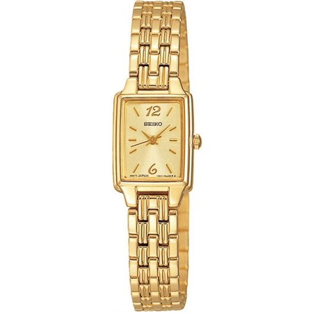 Seiko Women's Dress Gold-tone Watch - Bracelet - Champagne Dial - SXGL62