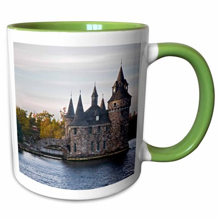 3dRose Boldt Castle, St Lawrence River, New York - US33 JRE0039 - Joe Restuccia III - Two Tone Green Mug, (Castle Mug)