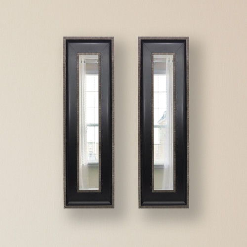 Bloomsbury Market 2 Piece Winkfield Caged Trim Panels Mirror Set (Set of 2)