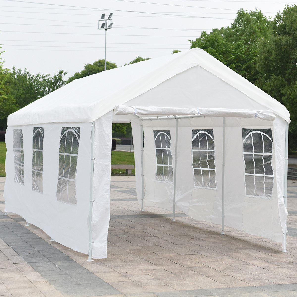 Gymax 10' x 20' Heavy Duty Party Wedding Tent Car Carport Canopy Garage Cover Shelter by Gymax