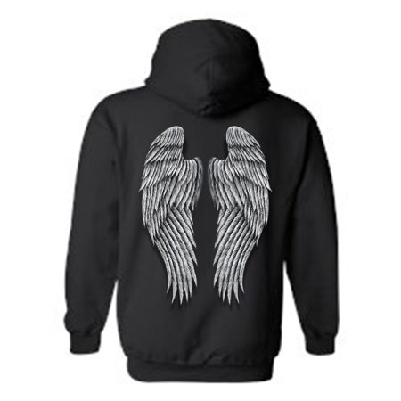Women's/Unisex Zip-Up Hoodie Beautiful Fluffy Angel Wings](X Wing Pilot Hoodie)