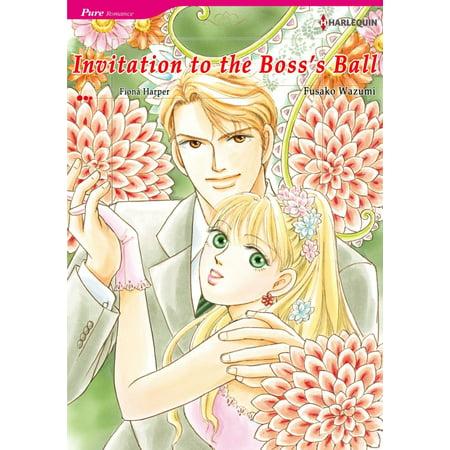 INVITATION TO THE BOSS'S BALL (Harlequin Comics) - eBook