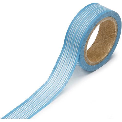 "Washi Tape Roll .625""X315""-Blue Horizontal Stripes"