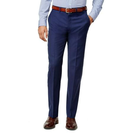 Mens 38X34 Dress - Flat Front Wool Pants 38 (Wool Pants)