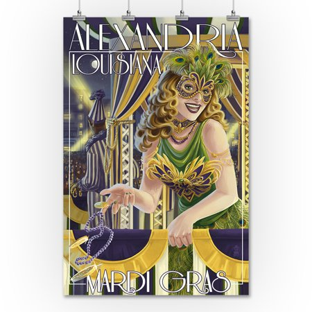 Alexandria, Louisiana - Mardi Gras - Lantern Press Artwork (36x54 ...