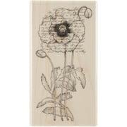 "Penny Black Rubber Stamp 2.25"" x 4"", Poppy Poem"
