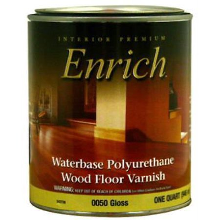 0050 Enrich QT Gloss Water Base Varnish and Floor Finish Only One