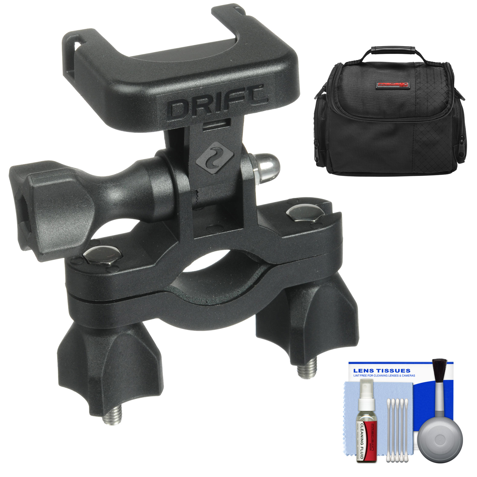 Drift Innovation Handlebar Mount with Case + Cleaning Kit for Drift HD, HD 170, Ghost, Ghost-S Action Camcorders