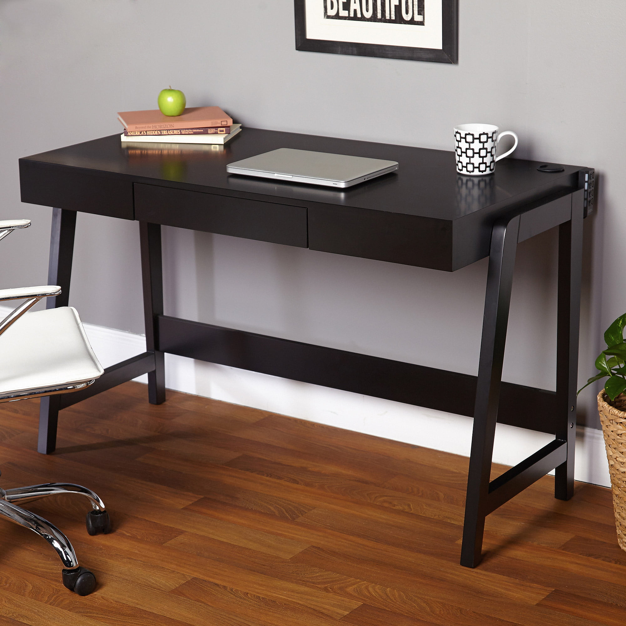 parsons desk with drawer multiple colors walmartcom - Black Writing Desk
