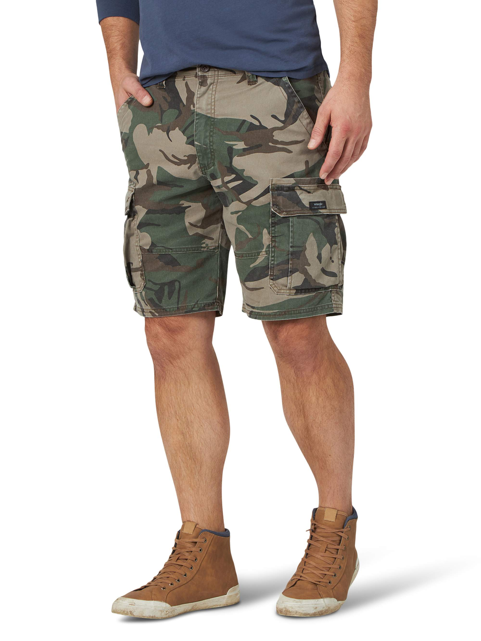 Charcoal Pro Club Cargo Shorts Twill Mens Casual Tactical Combat 100/% Cotton