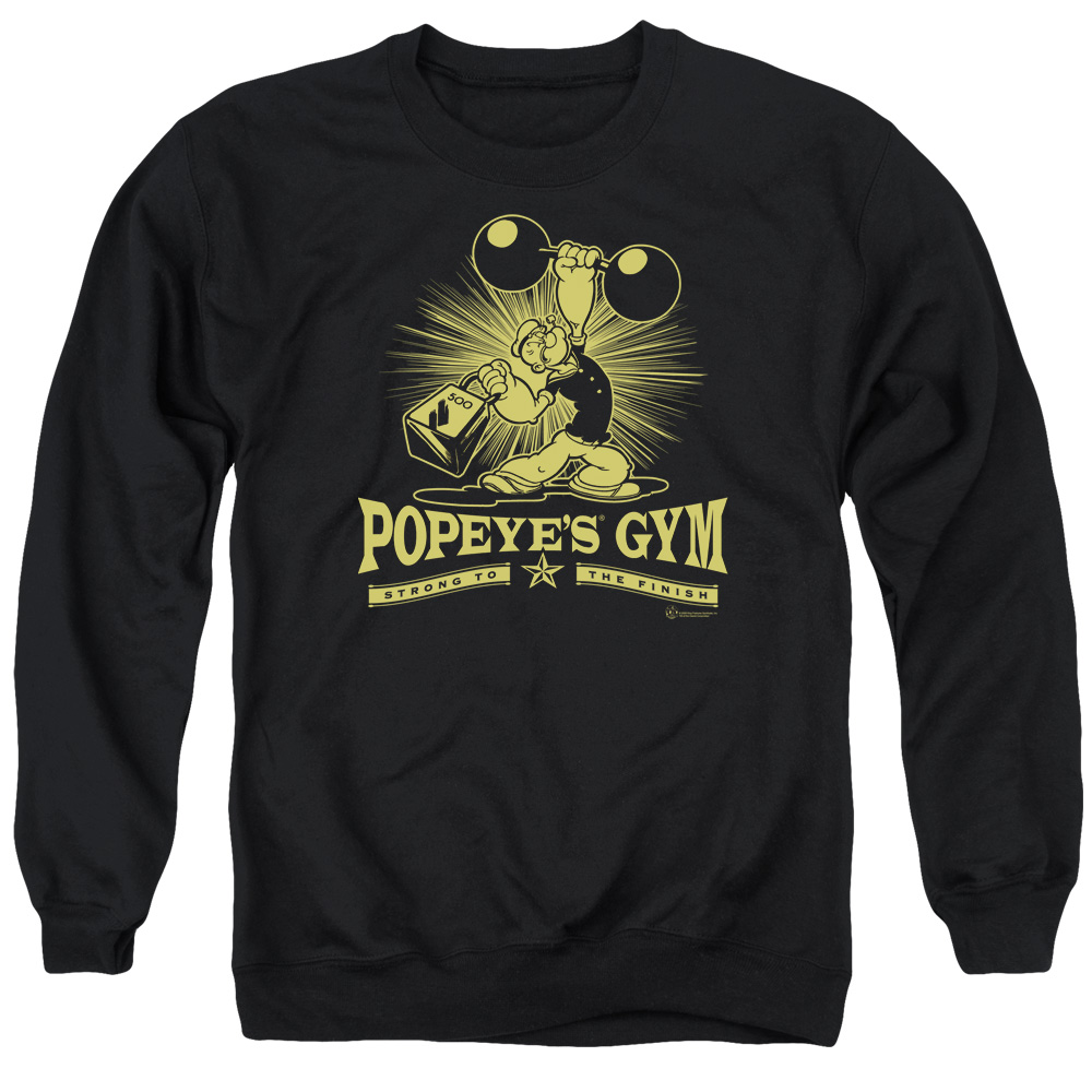 Popeye The Sailor Man Cartoon Character Popeyes Gym Adult Crewneck Sweatshirt