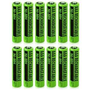 """NiMH AAA 12-Pack for Panasonic Replacement Batteries"""