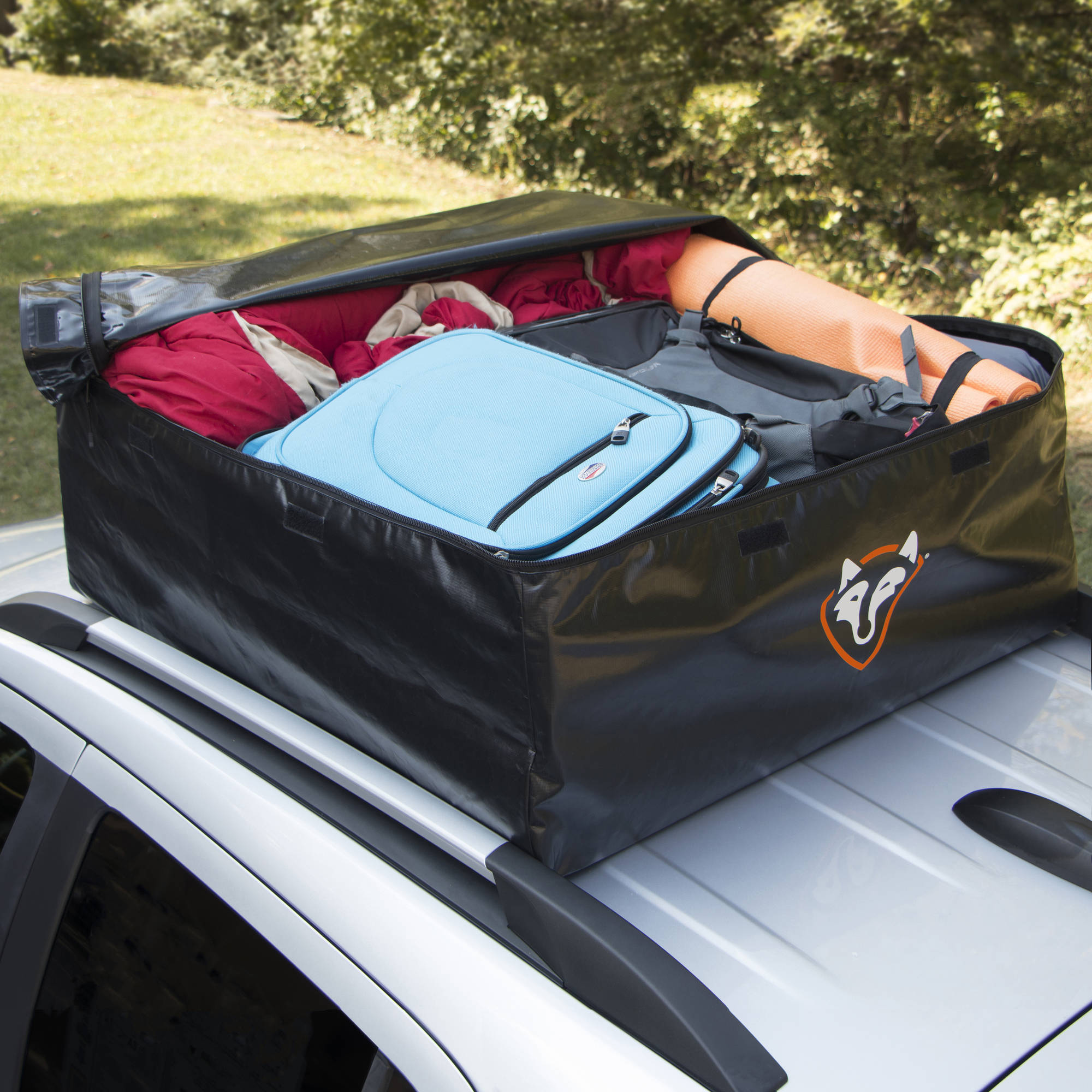 Rightline Gear 100A20 Car Top Carrier 15 cu ft w or without rack Black