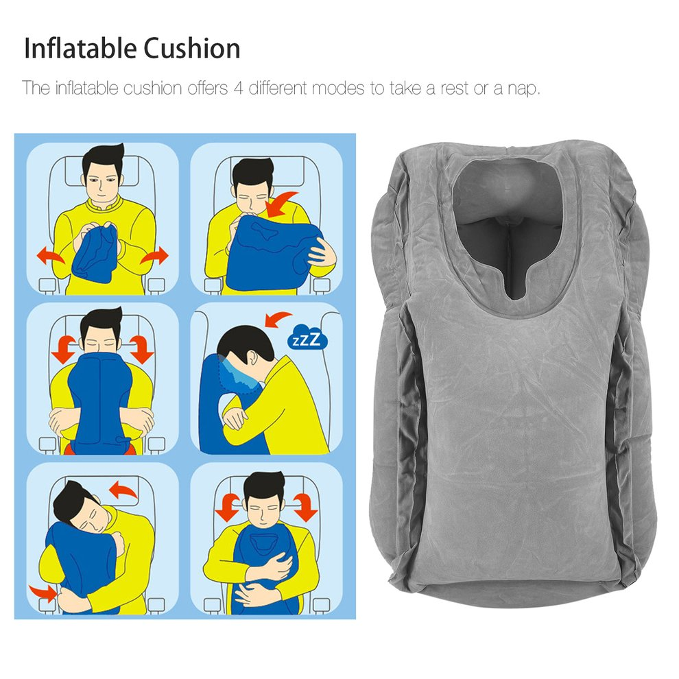 2017 New Comfortable Inflatable Cushion Travel Pillow Div...