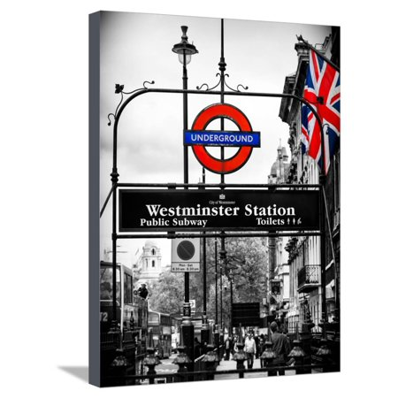 Westminster Station Underground - Subway Station - London - UK - England - United Kingdom - Europe Stretched Canvas Print Wall Art By Philippe (Best Underground Radio Stations)