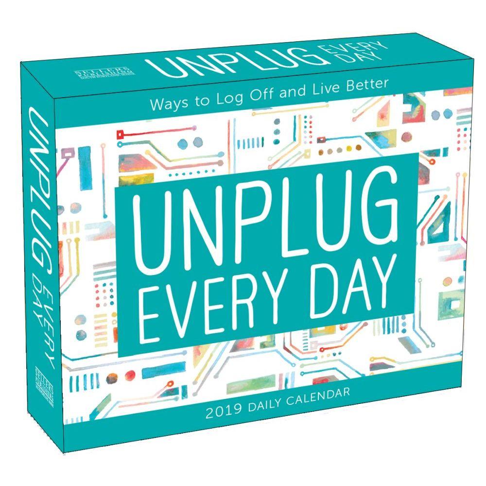 Unplug Every Day Desk Calendar Motivation By Calendars Walmart