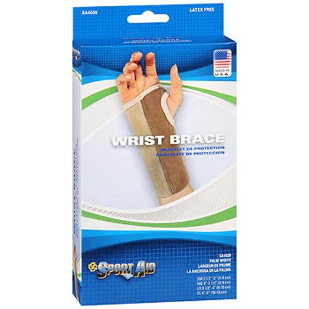 Sport Aid Deluxe Latex Free Left Wrist Brace, Large Long Latex Wrist Seals