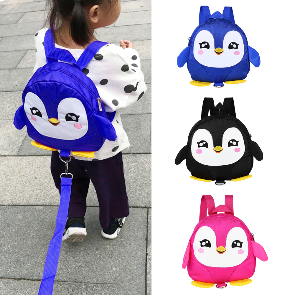 Yosoo Cute Cartoon Penguin Baby Safety Harness Backpack Toddler Anti-lost Bag Children Schoolbag,Baby Safety Harness Backpack, Baby Safety Bag