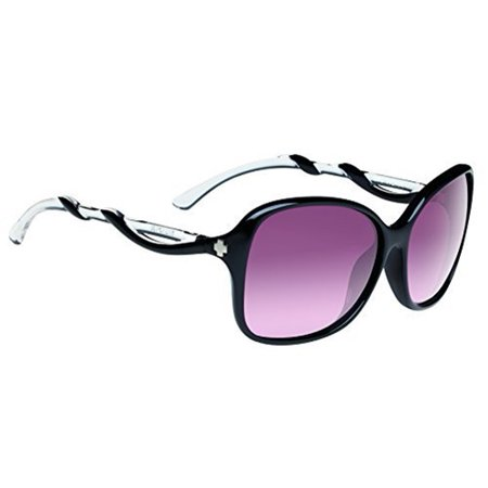 Spy Sunglasses 670299220357 Fiona Gradient Lenses Scratch Resistant Butterfly Shape, Black with Clear