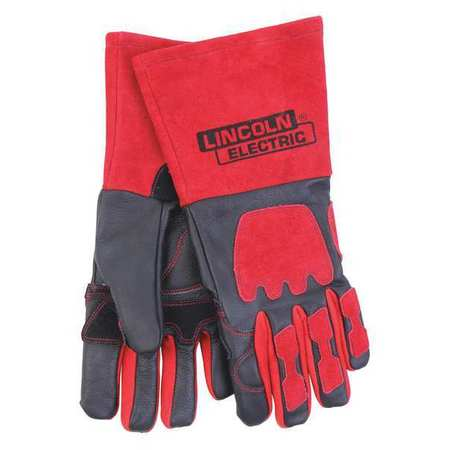 "LINCOLN ELECTRIC Welding Gloves,MIG/Stick,13-3/4"",XL,PR KH962"