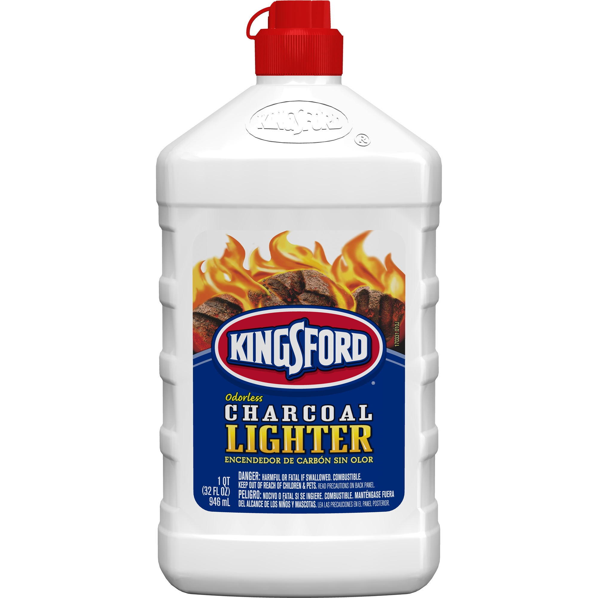 Kingsford Odorless Charcoal Lighter Fluid, 32 oz