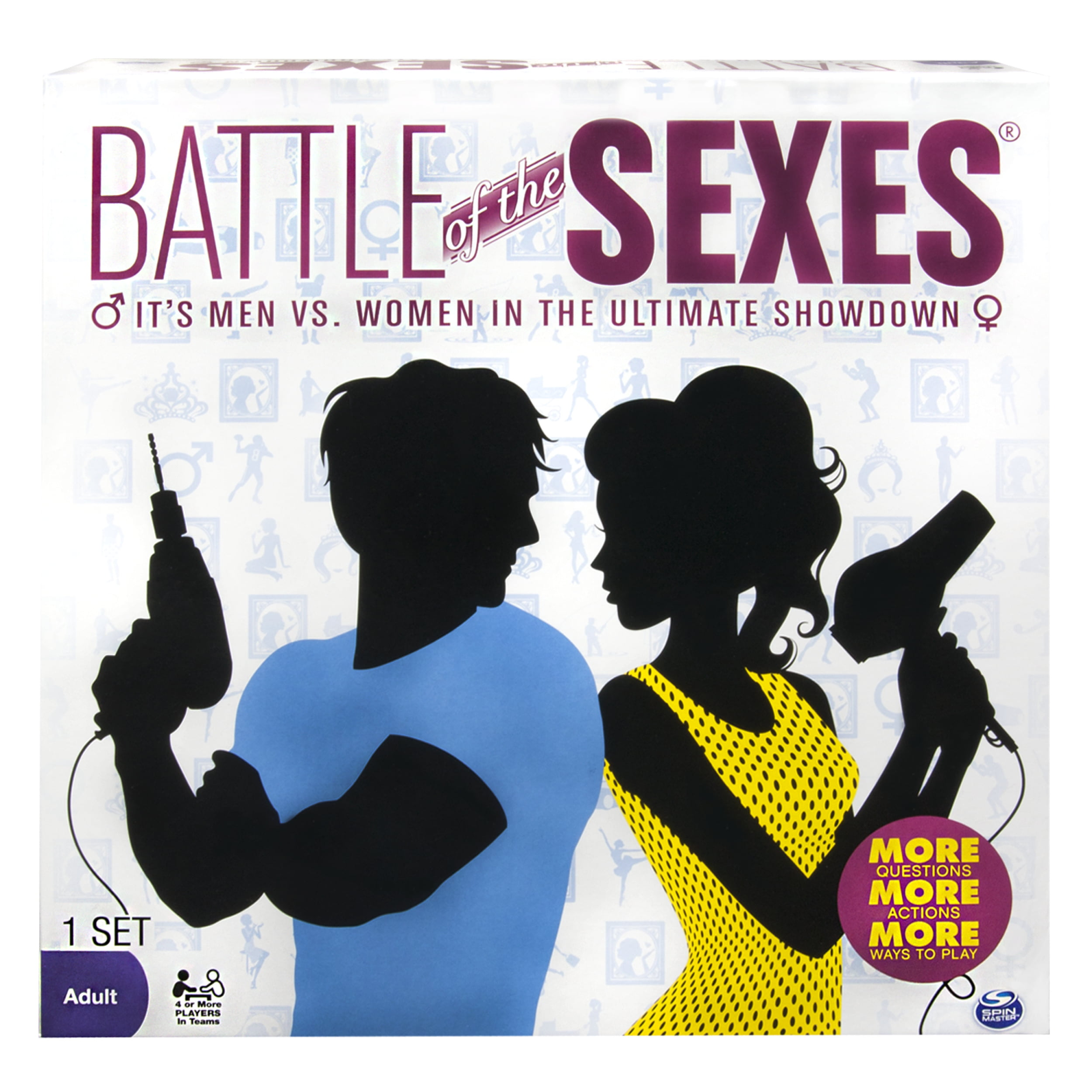 Spin Master Games - Battle of the Sexes Board Game (Edition May Vary)