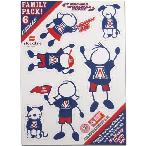 Arizona Wildcats Family Decal Set Small (F)