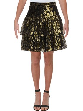 A.L.C. Womens Baxter Silk Ruffled Mini Skirt