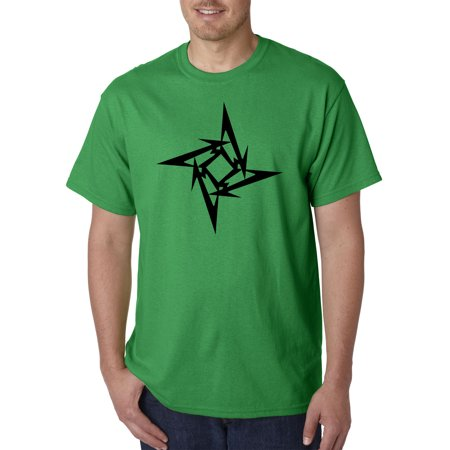 Trendy USA 1334 - Unisex T-Shirt Metallica M Star Box Logo Metal Rock Band Medium Kelly Green