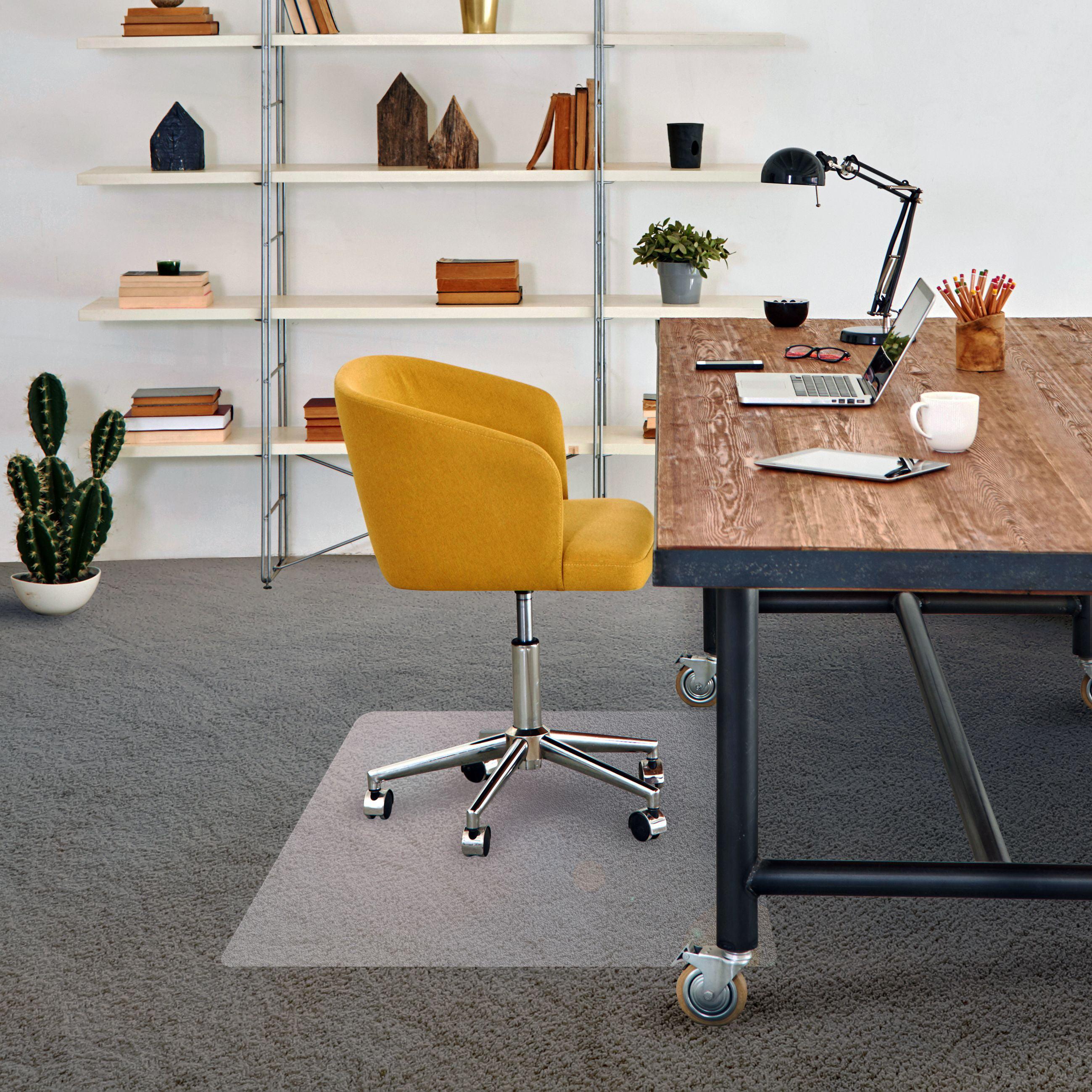 Vinyl Rectangular Chair Mat For Carpets