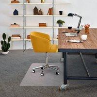 """Advantagemat Vinyl Rectangular Chair Mat for Carpets up to 1/4"""" - 48"""" x 60"""""""