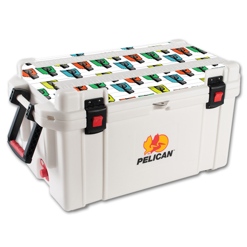 MightySkins Protective Vinyl Skin Decal for Pelican 65 qt Cooler Lid wrap cover sticker skins