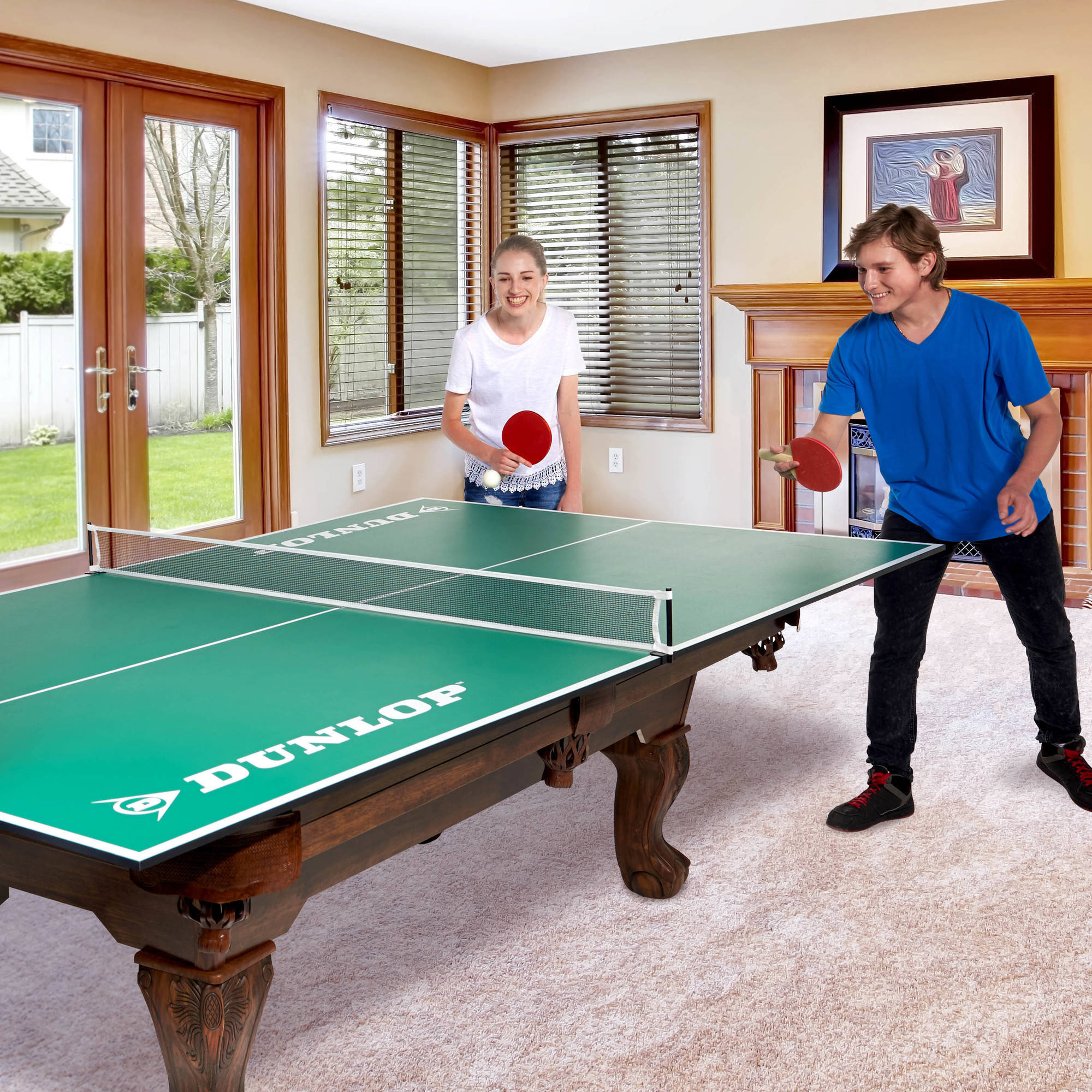 DUNLOP Official Size Table Tennis Conversion Top Walmartcom - Convert indoor pool table to outdoor