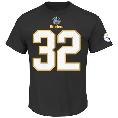 Franco Harris Pittsburgh Steelers Majestic HOF Player T-Shirt - Black