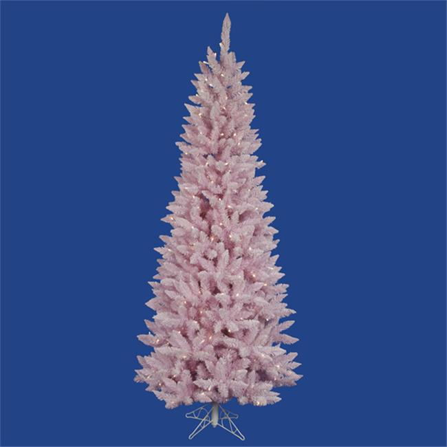NorthLight 9 in. Pre-Lit LED Flocked Cupcake Pink Spruce ...