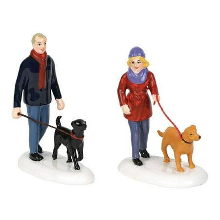 Girls Village (Department 56 Snow Village Taking The Girls For A Walk Figurine 6001690 Dogs)