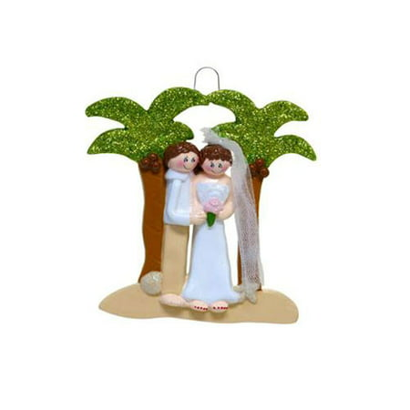 Destination Wedding Personalized Christmas Ornament DO-IT-YOURSELF