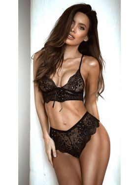 705f8516aa Product Image Lace-up Bralette And Short Set