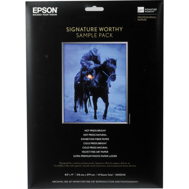 Epson S045234 PAPER, SIGNATURE WORTHY SAMPLE PACKS S045234 PAPER, SIGNATURE WORTHY SAMPLE PACKS