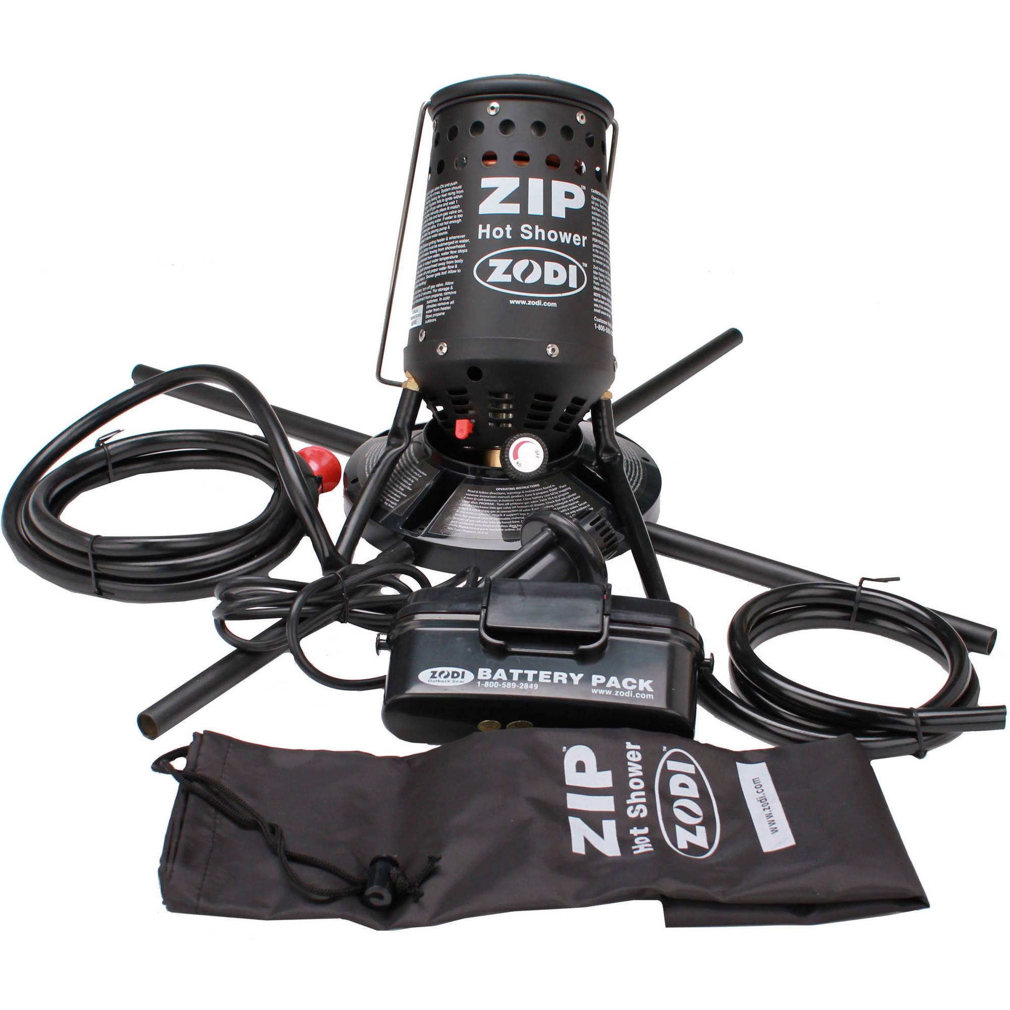 Zodi Outback Gear Zip Shower, with Piezo, Soft Case