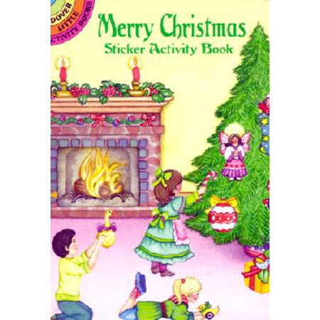 Merry Christmas Sticker Activity Book - Christmas Party Activities