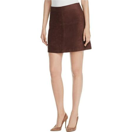 Sanctuary Womens Faux Suede A-Line Mini Skirt - Faux Fur Skirt