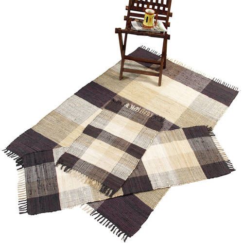 Chesapeake Check Chindi 3 pc. Accent Rug Set by Chesapeake Merchandising Inc.