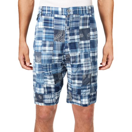 Polo Ralph Lauren Mens Big & Tall Plaid Madras Casual Shorts](Plaid Madras Shorts)