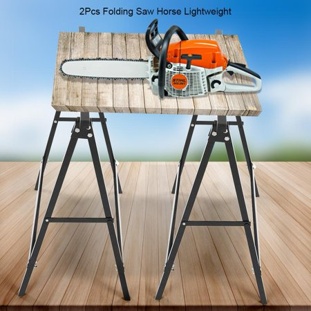 Sensational Hurrise 2Pcs Folding Saw Horse Lightweight Trestle Work Bench Stand Portable Cutting Logs Support Beatyapartments Chair Design Images Beatyapartmentscom