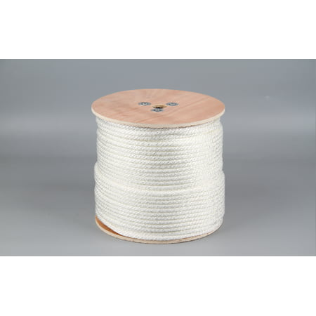Rope King 5/16 in. x 600 ft. Solid Braided Nylon Rope White